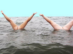 Nudists Upside Down