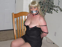 50 y.o. Lady Gagged