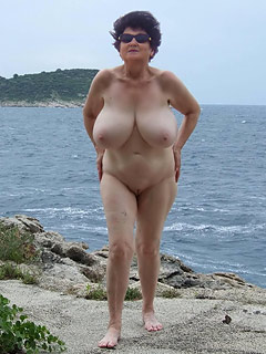 Nudist with big tits