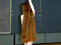 Nude with Long Red Hair