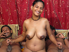 Pregnant Girl and 2 Guys