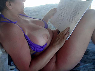 Mature Lady on Beach