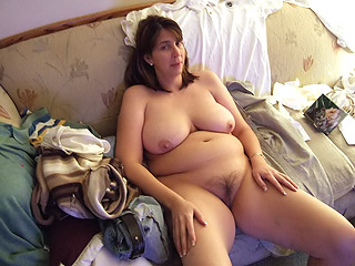 Chubby Housewife at Home