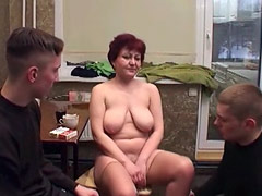 Nude Woman with Horny Guys