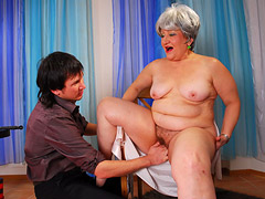 Nude Fat Granny and Boy