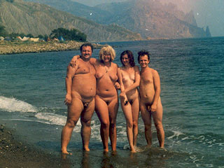 Two Nudist Couples
