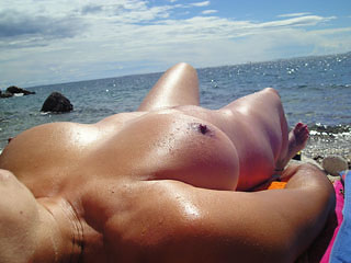 Naked Sunbathing Wife