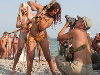 Bodypainted Nudists Event
