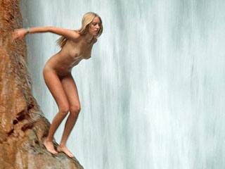 Nudist Models in Mountains
