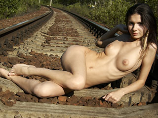 Naturists on Railroad