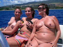 Mature Nudist Boat