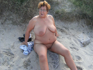 Fat Grannies on Beach