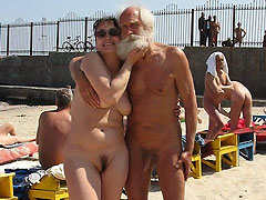 Nudist Old Men with...