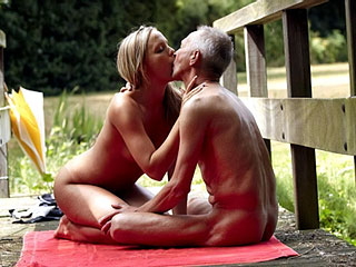 Old Young Naturists on Pie..