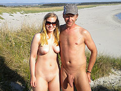 Nudist Old Man with GF
