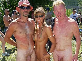 Nudists with Age Difference