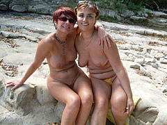 Nudist Girl with Mom