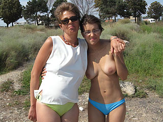 Moms with Nudist Girls