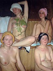 Family in Sauna