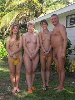Family picks naked