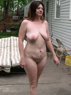 Mature female nudists