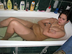 Old Man's GF in Bathtub