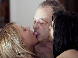 Old Men Kiss Young Girls