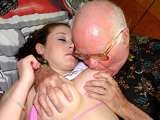 Old Males Touch Young Tits