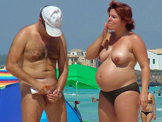 Nudist Beach Preggos