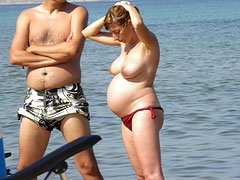 Pregnancy on Nudist Beac..