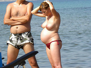 Pregnancy on Nudist...