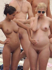 Pregnant Nudist Beach
