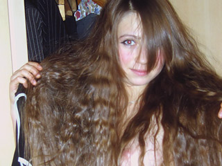 Sexy Long Haired Teen