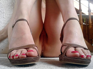 Feet, Legs and Pussy